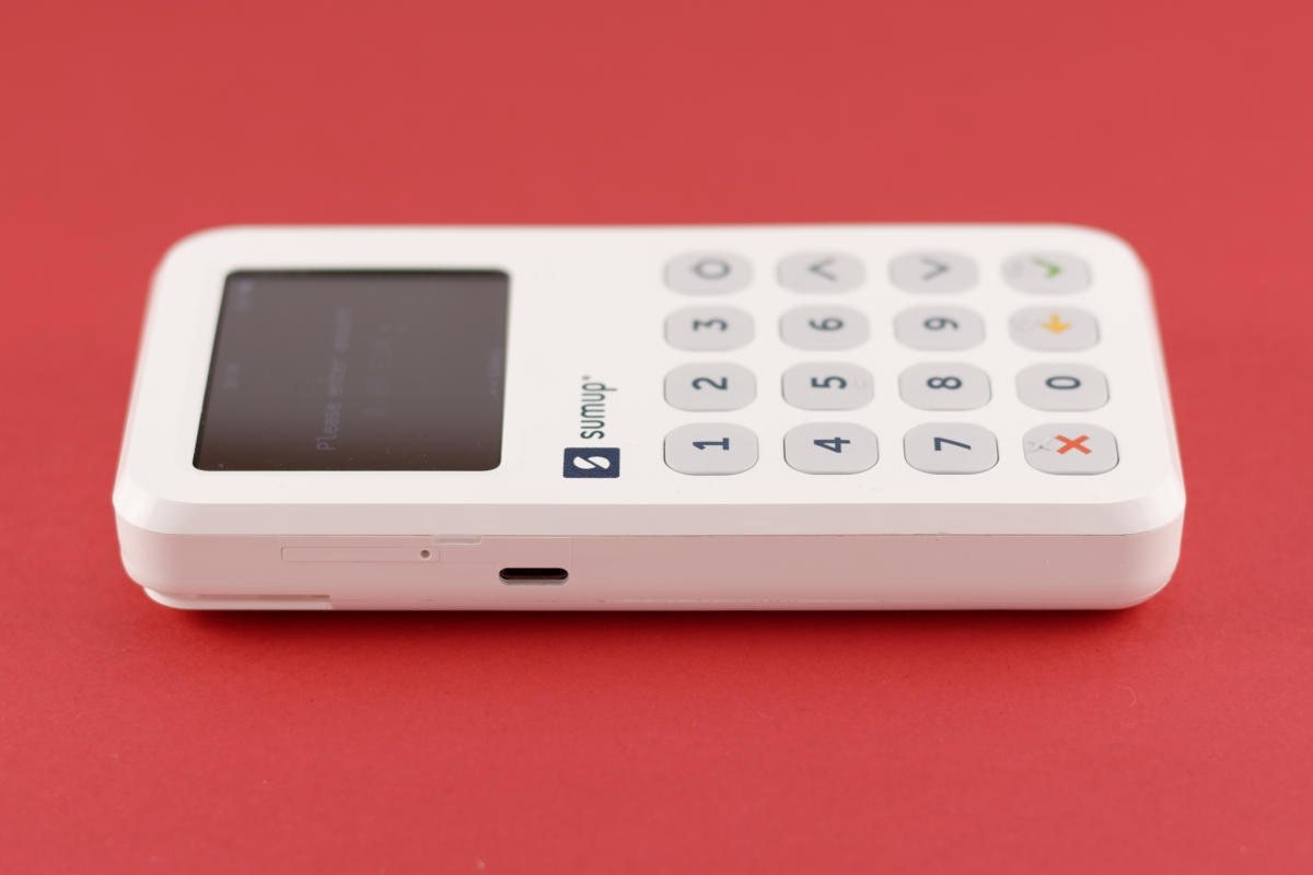 SumUp 3G Kartenleser (Seitenansicht)