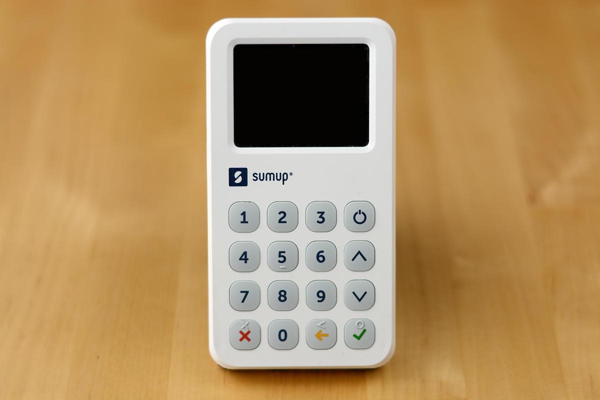 SumUp 3G Kartenleser (Frontalansicht)