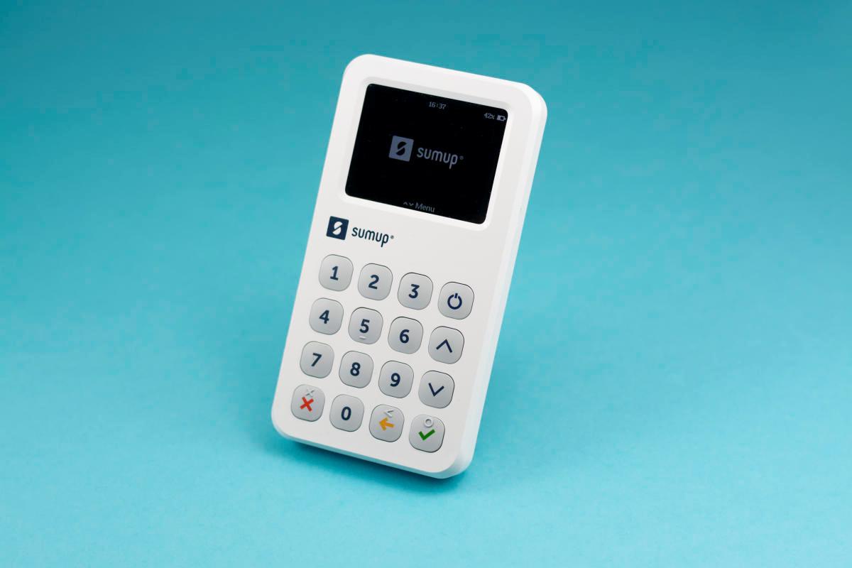SumUp 3G Kartenterminal (Dreiviertelansicht)