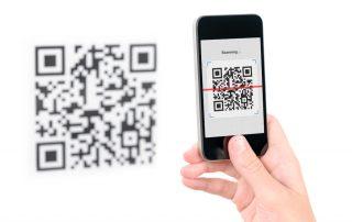 Paiement par QR code avec un smartphone