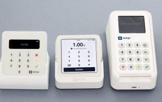 SumUp bietet drei Terminals an: Air, Solo und 3G mit Drucker.